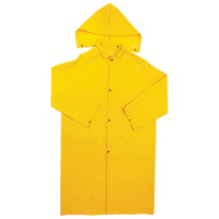 TruForce RW3524XL 2-Piece PVC/Polyester Raincoat w/ Detached Hood, 4XL