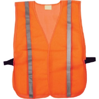 "TruForce SVGN2LCH General-Purpose Mesh Safety Vest, Lime w/ 1"" Silver Stripes"
