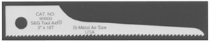 "S & G Tool Aid 90020 3"" SCROLL SAW BLADES - 5 PACK"