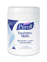 Gojo 9010-06 Purell® Sanitizing Wipes, 175/Ea, 6/Cs.
