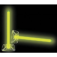 "Cyalume 927030 10"" 2-Hour Yellow Lightstick w/Base"