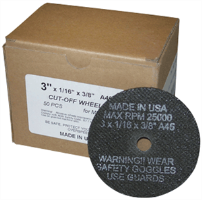 "S & G Tool Aid 94870 3"" X 1/16"" CUT-OFF WHEELS - 50 Pack"
