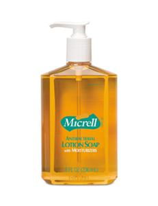 Gojo 9752-12 Micrell Antibacterial Lotion Soap, 8 Oz. Pump, 12/Cs.