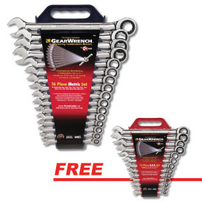 Gearwrench 9416 16 Pc. Combination Ratcheting Wrench Set-METRIC