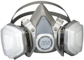 3M 07192 Dual Cartridge Half Mask Respirator, Medium