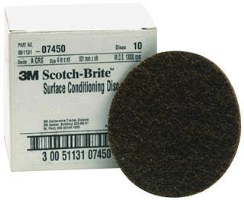 "3M 07450 4"" Coarse Surface Conditioning Discs, 10 Ct."