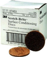"3M 07453 2"" Coarse Surface Conditioning Discs, 25 Ct."