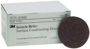"3M 07455 3"" Coarse Surface Conditioning Discs, 25 Ct."
