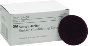 "3M 07456 3"" Medium Surface Conditioning Discs, 25 Ct."