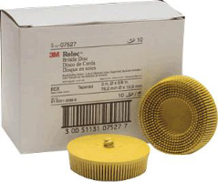 "3M 07527 3"" Medium Roloc Bristle Discs, 10 Ct."