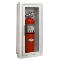 JL Industries 1815F10 Amber/Full Glass Flat Extinguisher Cabinet