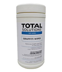 "Total Solutions 1447 Graffiti Wipes, 9.5 x 12"" 40 Ct., 6/Cs."