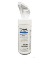 "Total Solutions 1448 Hand Sanitizing Wipes, 6 x 8"" 25 Ct. Oval, 12/Cs."