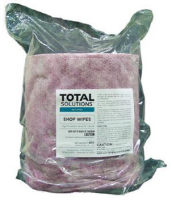 "Total Solutions 1539SHO Shop Wipes, 8"" X 12"", 2 Refill Bags/Cs"