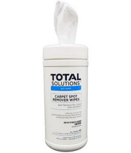"Total Solutions 1546 Carpet Spot Remover Wipes, 10"" X 12"", 6/Cs"