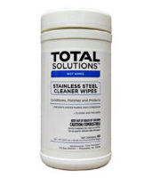 "Total Solutions 1549 Stainless Steel Cleaner Wipes, 9.5"" X 12"", 6/Cs"