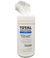 "Total Solutions 1558 Crystal-Clear Glass Wipes, 7"" X 8"", 6/Cs"