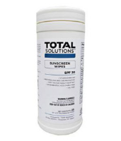 "Total Solutions 1559 SunScreen Wipes, 10"" X 12"", 6/Cs"