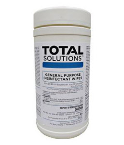 "Total Solutions 1563 General Purpose Disinfectant Wipes, 6"" X 10"", 6/Cs"