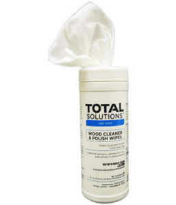 "Total Solutions 1565 Wood Cleaner & Polish Wipes, 10"" X 12"", 6/Cs"