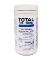 "Total Solutions 1616 Full Spectrum Disinfectant Wipes, 6"" X 7"", 180 Wipes 6/ Cs"