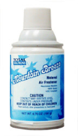 Total Solutions 8427 Mountain Breeze Metered Air Freshener, 12 oz cans, 6.75 oz net wt. 12/Cs