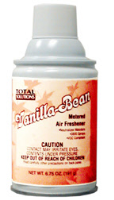 Total Solutions 8428 Vanilla Bean Metered Air Freshener, 12 oz cans, 6.75 oz net wt. 12/Cs