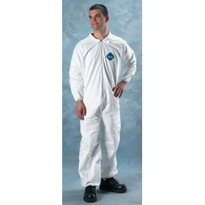 Lakeland 01417 Tyvek Coverall - Zip, Elast. Wrist/Ankle, 25/Cs. XL