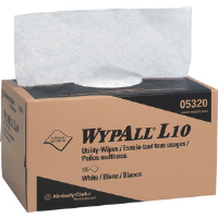 Kimberly Clark 05320 Wypall® L10 Utility Wiper, Pop-Up Box, White, 18 Boxes/125 ea