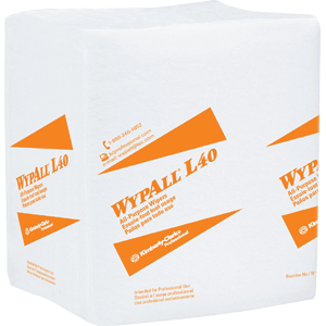 Kimberly Clark 05600 Wypall® L40 Wipers, 1/4 Fold, White, 12 Packs/56 ea