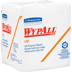 Kimberly Clark 05701 Wypall® L40 Wipers, 1/4 Fold, White, 18 Packs/56 ea