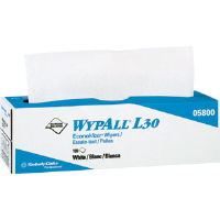 Kimberly Clark 05800 Wypall® L30 Wipers, Pop-Up Box, White, 8 Boxes/100 ea