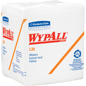 Kimberly Clark 05812 Wypall® L30 Wipers, 1/4-Fold, White, 12 Boxes/90 ea