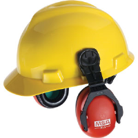 MSA 10061535 XLS Earmuffs for Slotted Caps (NRR-23dB)