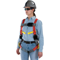 MSA 10070423 ArcSafe® Harness,TB Leg Straps, Hip/Front D-Rings, Std.