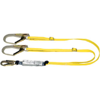 MSA 10072475 Workman® Energy Absorbing Lanyard,(2)GL3100, Twin