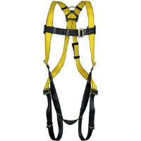 MSA 10072479 Workman Harness w/ Qwik-Fit Chest/Leg Straps,B D-Rings, Std.