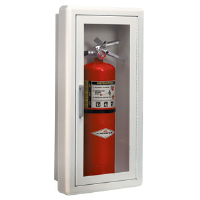 "JL Industries 1017F10 Full Glass 3"" Trim Extinguisher Cabinet"