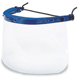 MCR Safety 102040 Clear Faceshield, 10 x 20""