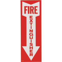 """FIRE EXTINGUISHER"" Arrow Self-Adhesive, Vinyl Sign"