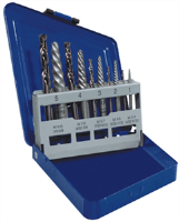 Irwin 11119 10 Pc. Spiral Extractor & Drill Bit Set