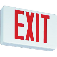 Lithonia LED Red Exit Sign w/Battery Backup