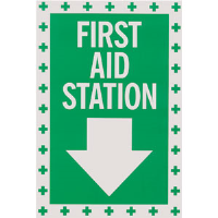 """First Aid Station"" Self-Adhesive Vinyl Sign"