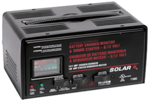 Solar 1160C 15/2/100 Amp Automatic Battery Charger w/ Engine Start