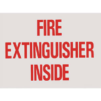 """FIRE EXTINGUISHER INSIDE"" Self-Adhesive, Vinyl Sign"