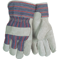MCR Safety 1220SX Gunn Pattern Patch Palm Striped Leather Gloves,(Dz.)