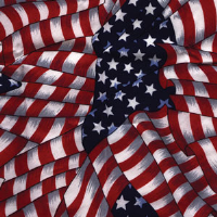 Ergodyne 12303 Chill-Its® 6700 Evaporative Cooling Bandana, Stars & Stripes