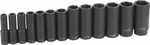 Grey Pneumatic 1312D 13 Pc. 1/2'' Drive Deep Length Fractional Set