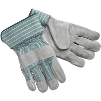 "MCR Safety 1350 Leather Gloves w/Rubberized 2-1/2""Cuff,(Dz.)"