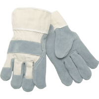 MCR Safety 1400 Select Split Leather Gloves, Duck Cuff,(Dz.)